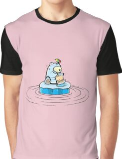 Summer Polar Bear : Trendy Bubble Tea Graphic T-Shirt