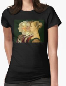 Souvenir from Italy - Pollaiolo's portraits Womens Fitted T-Shirt