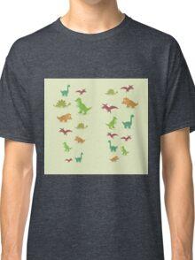 Dinosaurs pattern set elements vector kid style legging  Classic T-Shirt