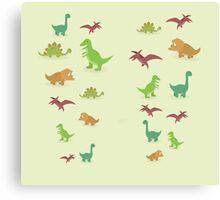 Dinosaurs pattern set elements vector kid style legging  Canvas Print