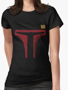 Star Wars - Destroyed Boba Fett Womens Fitted T-Shirt