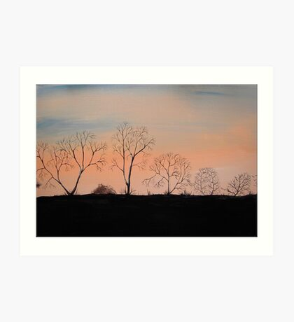 Trees in the Sunset Art Print