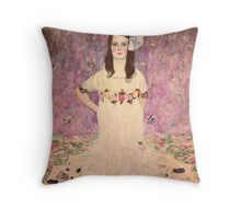 Gustav Klimt  - Portrait of Mada Primavesi Throw Pillow