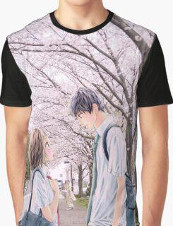 Love under the Sakura trees Graphic T-Shirt