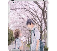Love under the Sakura trees iPad Case/Skin