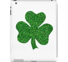 St. Patrick's Day Shamrock Green Glitter iPad Case/Skin