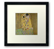 Gustav Klimt - The Kiss  Framed Print