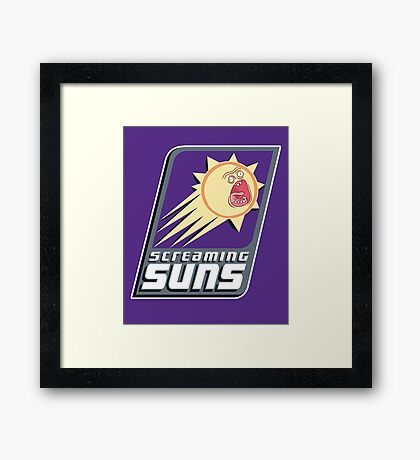 Screaming Suns Framed Print
