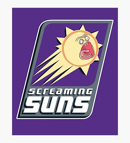 Screaming Suns Photographic Print