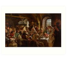 Konstantin Makovsky - A Boyar Wedding Feast 1883 , A Wedding Reception Art Print