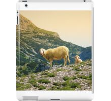 Sheep on the hill iPad Case/Skin