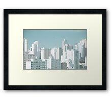 Sao Paulo skyline Framed Print