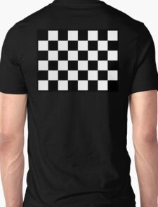 Checkered Flag, WIN, WINNER, Chequered Flag, Racing Cars, Race, Finish line, BLACK Unisex T-Shirt