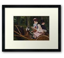 Mary Cassatt - A Woman and a Girl Driving 1881, American Impressionism  Framed Print