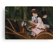 Mary Cassatt - A Woman and a Girl Driving 1881, American Impressionism  Canvas Print