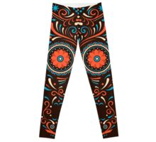 Tribal tattoo Ornamental Colorful Legging gothic flower skirt Leggings