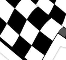 MOTOR SPORT, Racing Cars, Race, Checkered Flag, Flutter, WIN, WINNER, Chequered Flag, Finish line, BLACK Sticker