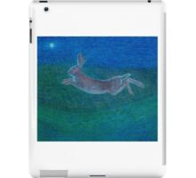 Hare leaping iPad Case/Skin