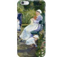 Mary Cassatt - Children in a Garden The Nurse 1878 ,  American Impressionism  iPhone Case/Skin
