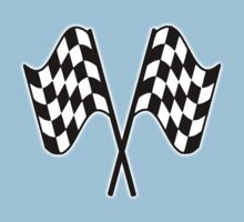 MOTOR SPORT, RACING, Racing Cars, Race, Checkered Flag, Le Mans,Flutter, WIN, WINNER, Chequered Flag, Double, Finish line, BLACK Kids Tee