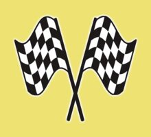 MOTOR SPORT, Racing Cars, Race, Checkered Flag, Le Mans,Flutter, WIN, WINNER, Chequered Flag, Double, Finish line, BLACK Baby Tee