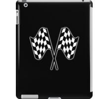 MOTOR SPORT, RACING, Racing Cars, Race, Checkered Flag, Le Mans,Flutter, WIN, WINNER, Chequered Flag, Double, Finish line, BLACK iPad Case/Skin