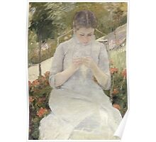 Mary Cassatt - Girl in the Garden 1880 . American Impressionism  Poster