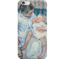 Mary Cassatt - Mother About to Wash Her Sleepy Child 1880 , American Impressionism  iPhone Case/Skin