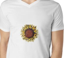 HELIANTHUS Mens V-Neck T-Shirt
