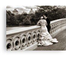 Bow Bridge Wedding Canvas Print