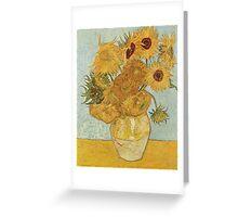 Van Gogh Yellow Sunflowers Greeting Card