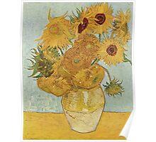 Van Gogh Yellow Sunflowers Poster