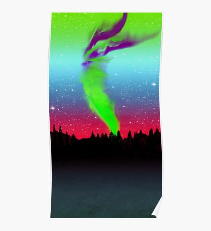 Northern Lights - Aurora Borealis  Poster