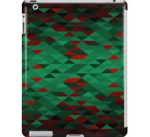 Triangle Glimmer (Green and Red) iPad Case/Skin
