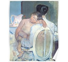 Mary Cassatt - Woman Sitting with a Child in Her Arms -1890 Poster