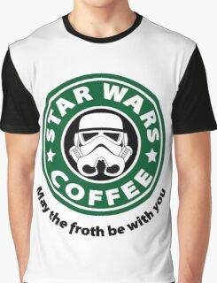 May the froth be with you - Coffee Star Graphic T-Shirt