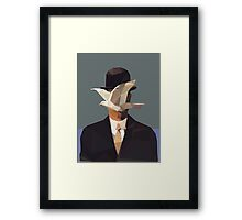 The Man In The Bowler Hat -Magritte- Framed Print