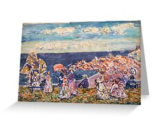 Maurice Prendergast - On the Beach 1907-1909  American Impressionism , Seascape  Greeting Card