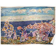 Maurice Prendergast - On the Beach 1907-1909 Poster