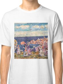 Maurice Prendergast - On the Beach 1907-1909  American Impressionism , Seascape  Classic T-Shirt