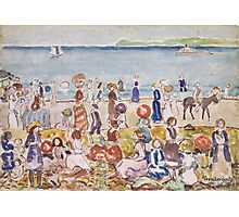 Maurice Prendergast - Revere Beach 1917-1918 Impressionism ,  Seascape  Photographic Print