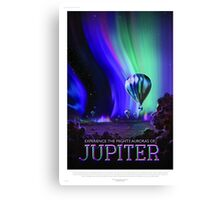 Jupiter - NASA/JPL Travel Poster Canvas Print