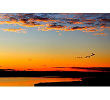 Sunset in Lulea Photographic Print