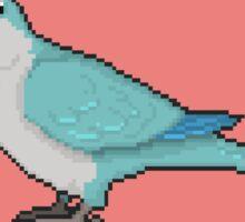 Pixel/ 8-bit Parrot: Blue Quaker Parrot Sticker