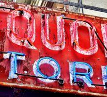 NYC Liquor Store Neon Sign Sticker
