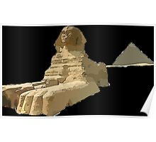 The Sphinx and the Great Pyramid Poster