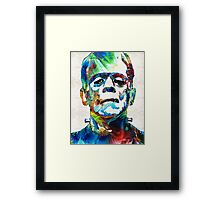Frankenstein Art - Colorful Monster - By Sharon Cummings Framed Print
