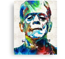 Frankenstein Art - Colorful Monster - By Sharon Cummings Canvas Print