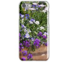 Potted Purple Flowers For Your Patio Or Garden  iPhone Case/Skin
