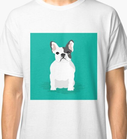 French Bulldog cute dog gift pet friendly custom pet portraits Classic T-Shirt